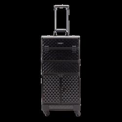 Kufer kosmetyczny diamentowy czarny (KC-TR008)