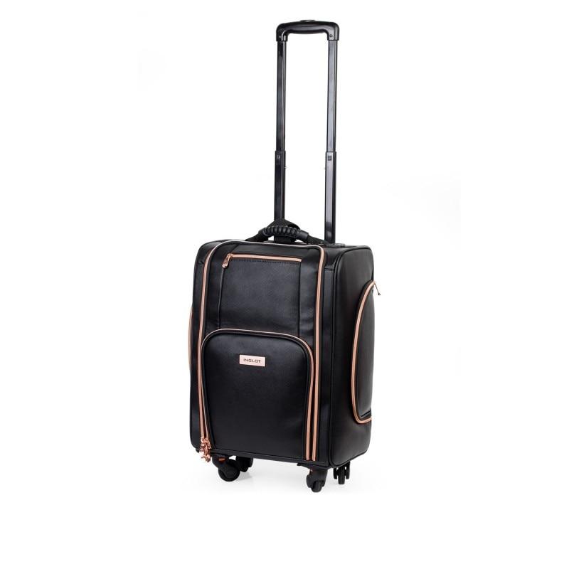 Kufer kosmetyczny z kółkami BLACK & ROSE GOLD (KC-P46S)