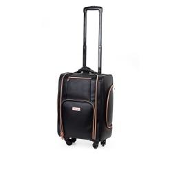 Kufer kosmetyczny na kółkach BLACK & ROSE GOLD (KC-P46S)