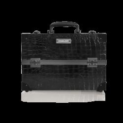 Kufer kosmetyczny o wzorze skóry krokodyla średni (KC-PAC01)