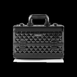 Kufer kosmetyczny diamentowy czarny średni (W01B)