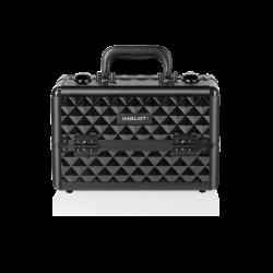 Kufer kosmetyczny diamentowy czarny mały (MB153A-S)