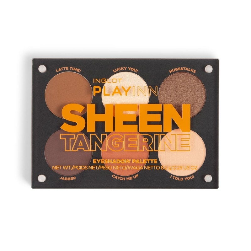 Paleta cieni do powiek INGLOT PLAYINN Sheen Tangerine