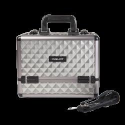 Kufer kosmetyczny diamentowy srebrny mały (KC-ZH01)