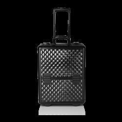 Kufer kosmetyczny diamentowy czarny (KC-187L)