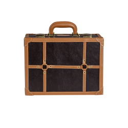 Brązowa mini walizka do wizażu (KC-007M)