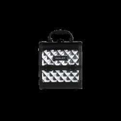 Kufer kosmetyczny diamentowy mini shiny silver (MB152M1)