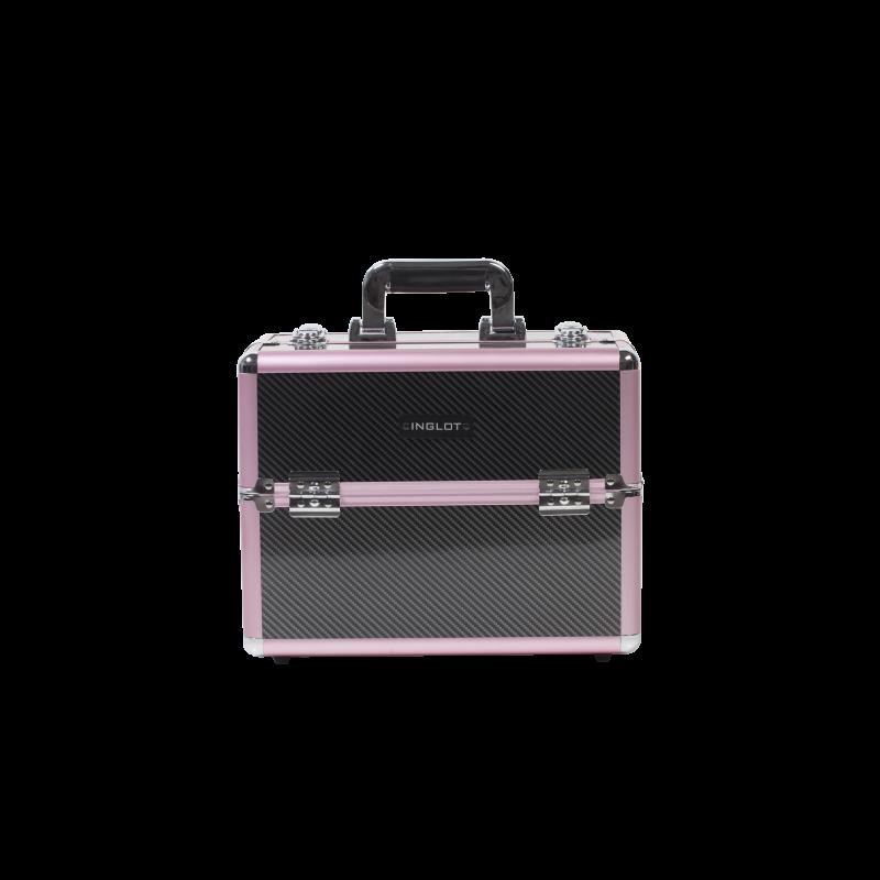Kufer kosmetyczny o wzorze karbonu (KC-156-Z)