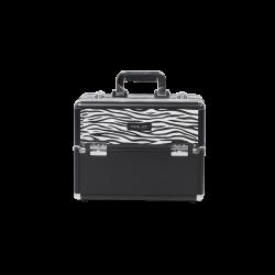 Kufer kosmetyczny z motywem zebry (KC-156-ZB)
