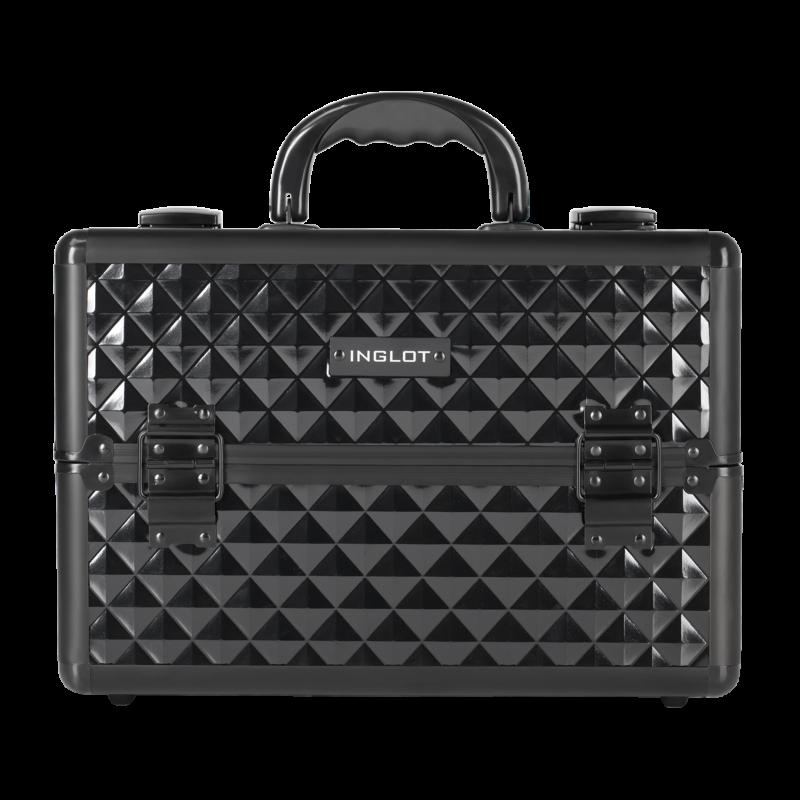 Kufer kosmetyczny diamentowy czarny duży (MB153A-M)