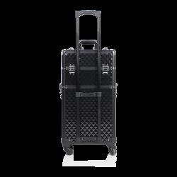 Kufer kosmetyczny diamentowy czarny (KC-TR003)