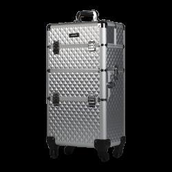 Kufer kosmetyczny diamentowy srebrny (KC-TR003)