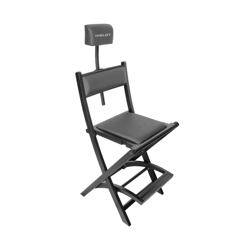 Profesjonalne krzesło do wizażu z zagłówkiem