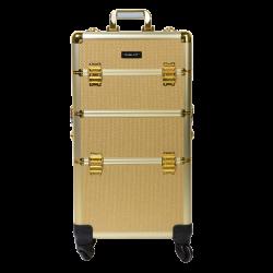 Kufer kosmetyczny złoty (KC-TR002)