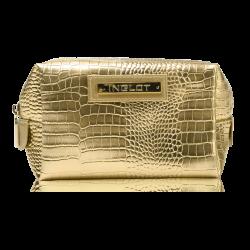 Kosmetyczka o wzorze skóry krokodyla złota (R24245B) icon