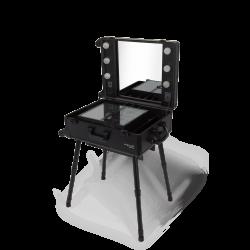 Przenośny podświetlany stolik do wizażu (KC-210 BLACK) icon