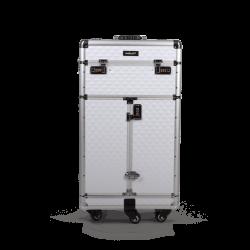 Kufer kosmetyczny diamentowy biały (KC-JY06)