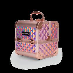 Kufer Kosmetyczny Diamentowy Mini Holographic Rose Gold (MB152M Big Diamond K107 9) icon